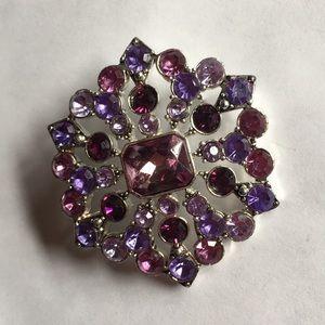 Multicolor purple brooch